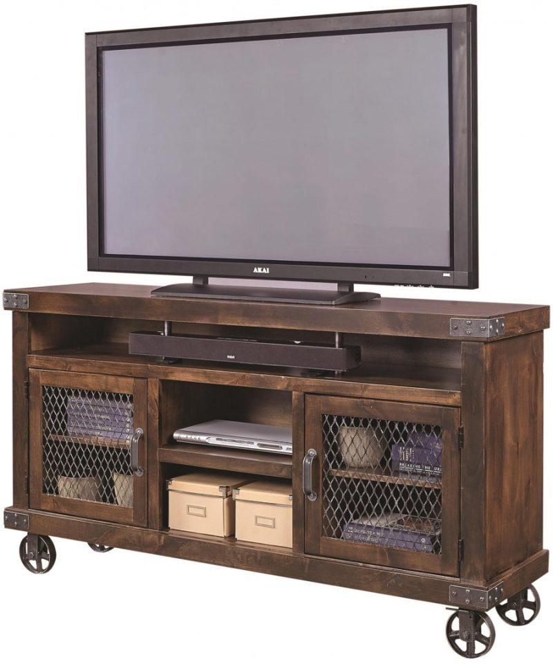 industrial console with wheels