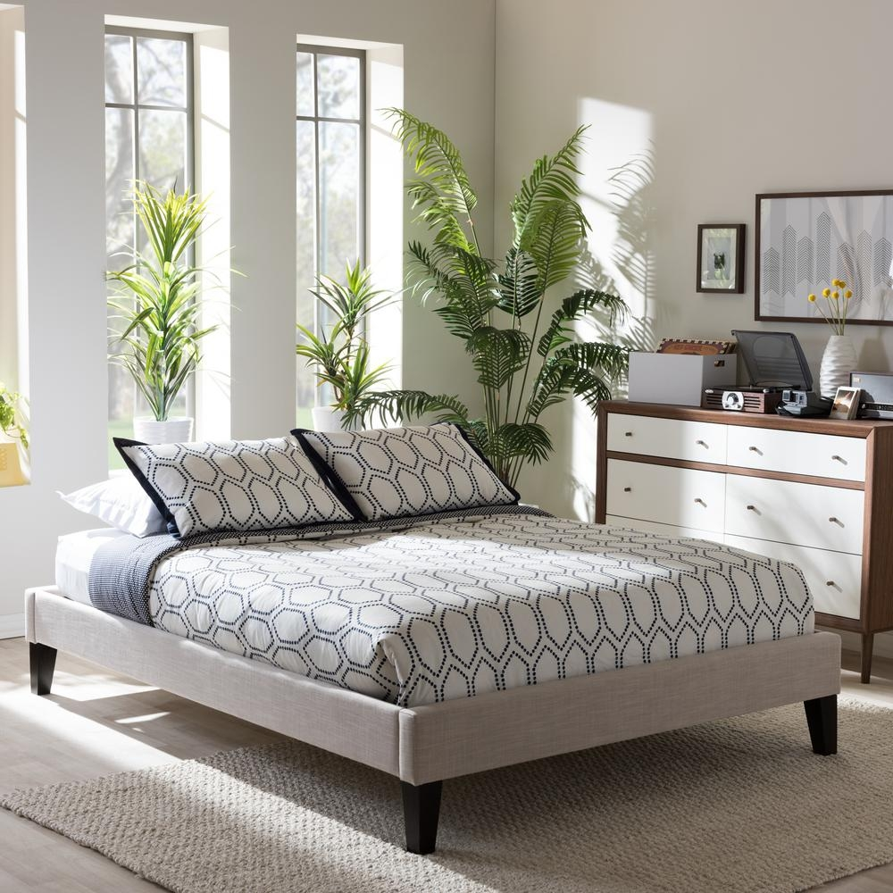 leather platform bed without headboard ideas
