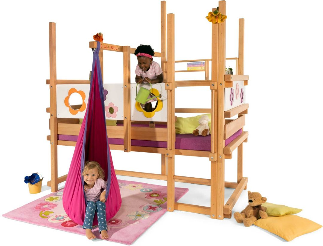 loft bed adjustable with swing