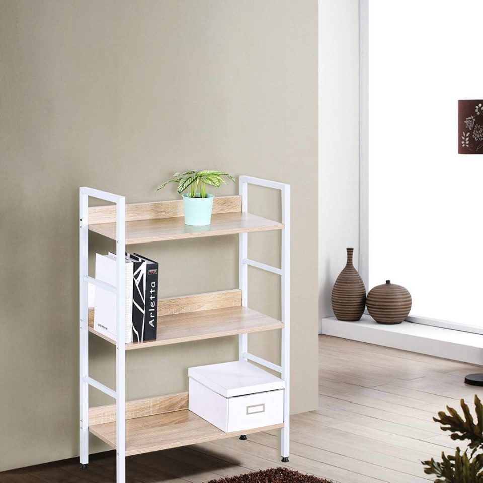 Minimalist Bookcase Wood Corner Office