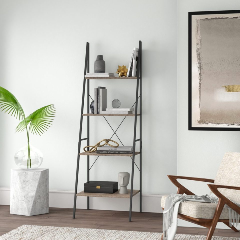 Small Ladder Bookshelf Black