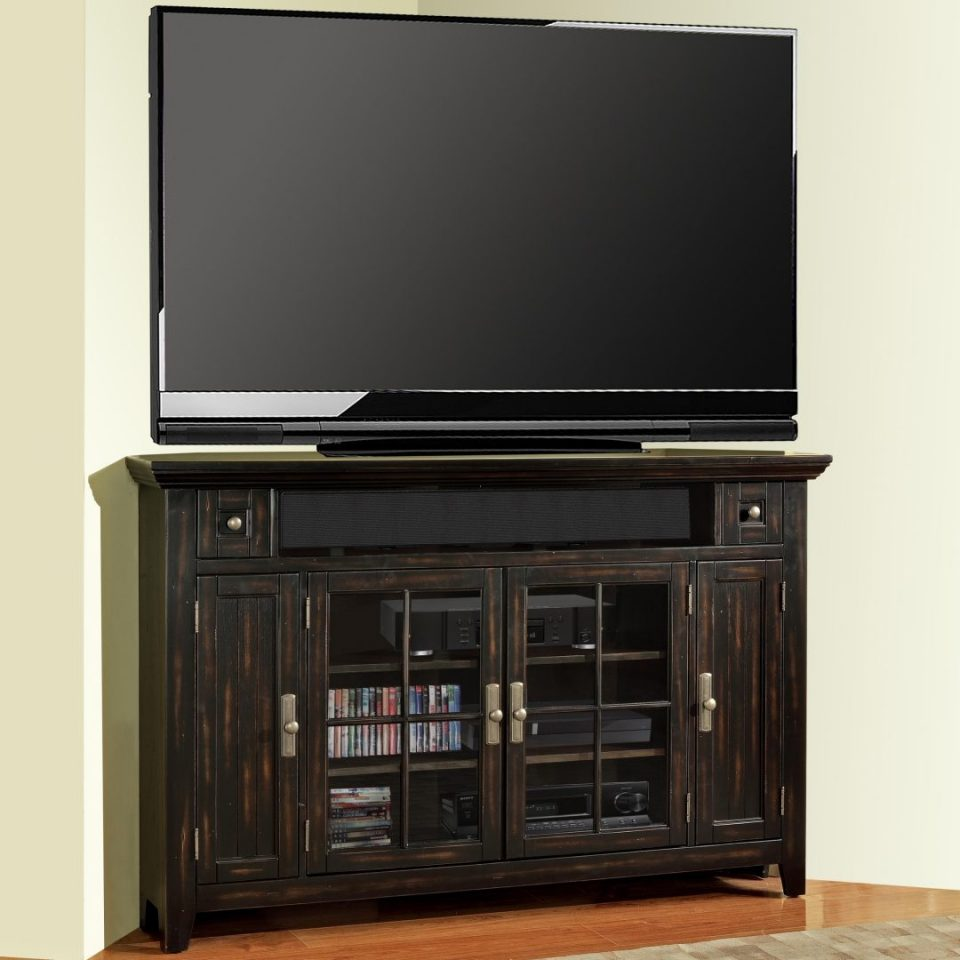tall corner cabinet for flat tv