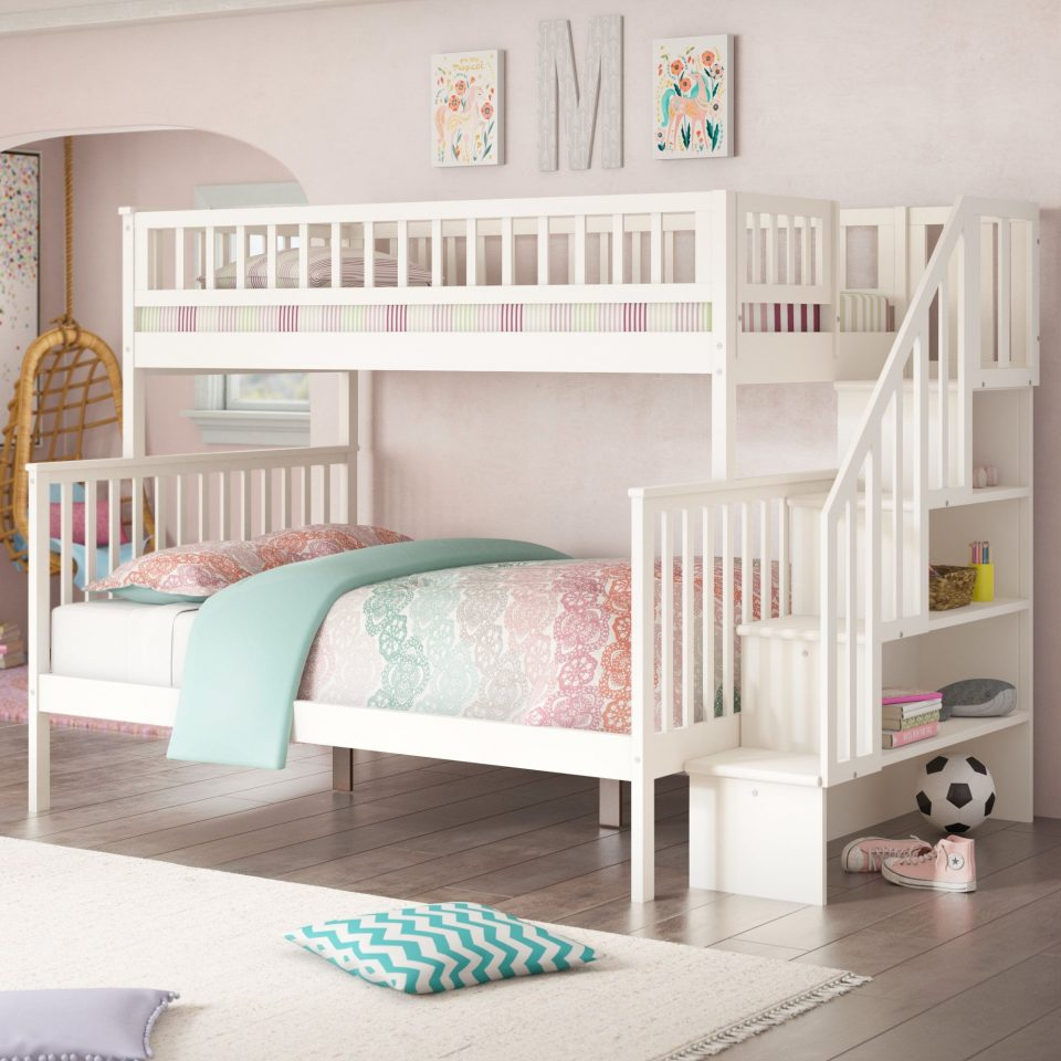 twin over full girls room bunk beds