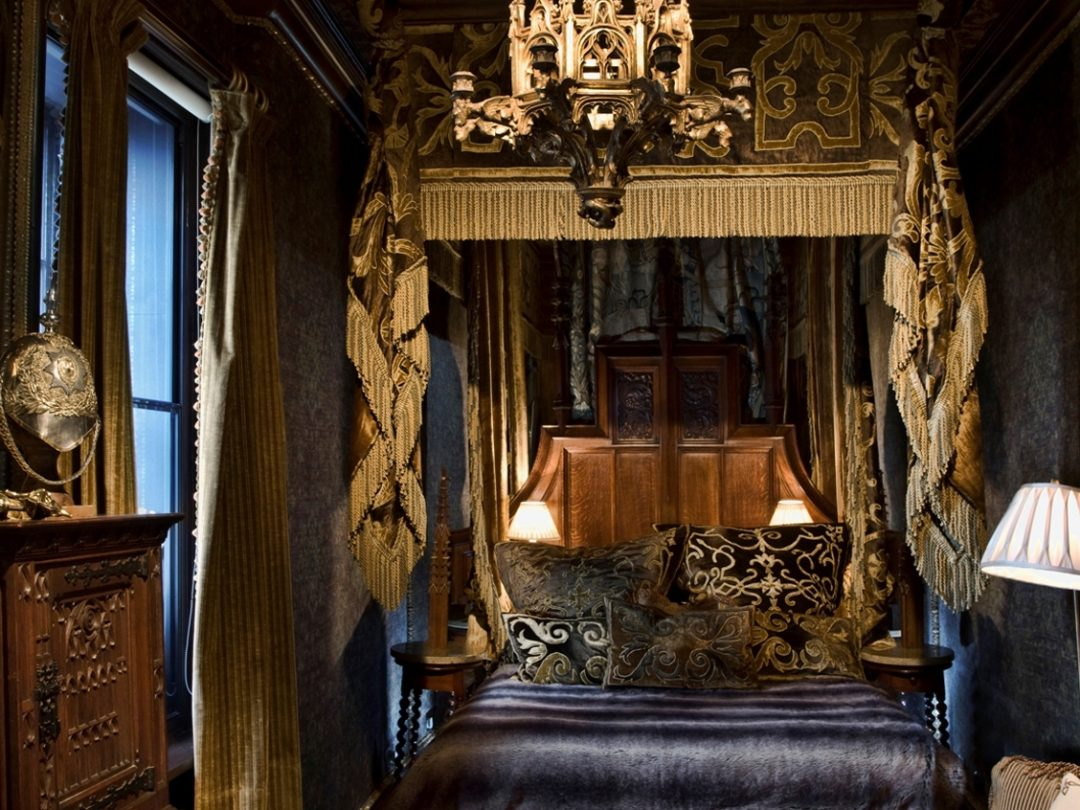 victorian gothic style bedroom