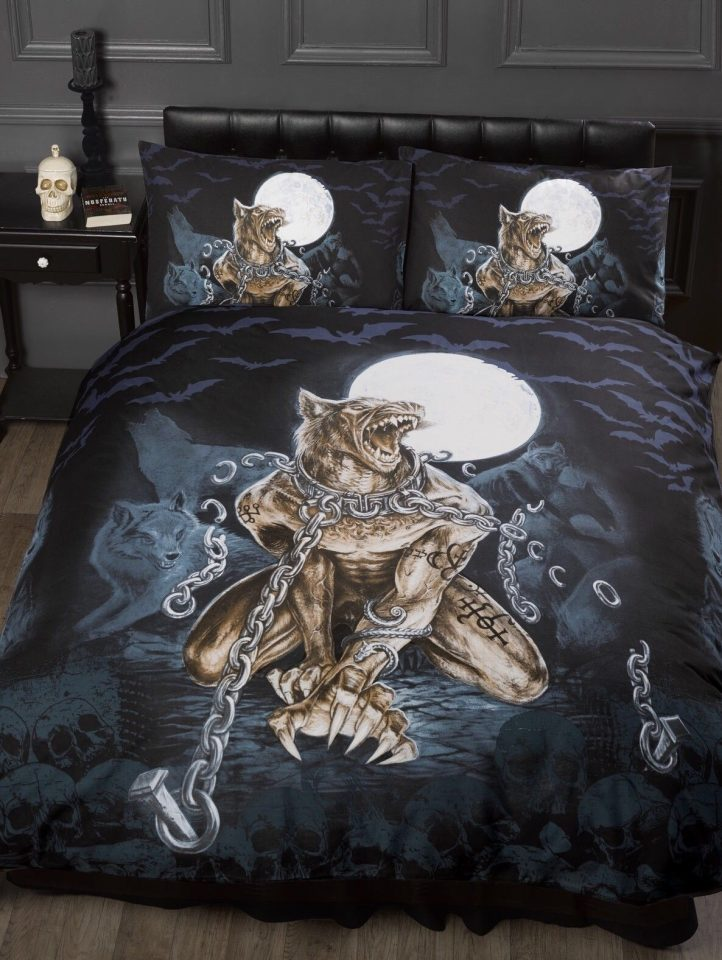 werewolf teenage gothic bedroom bedding