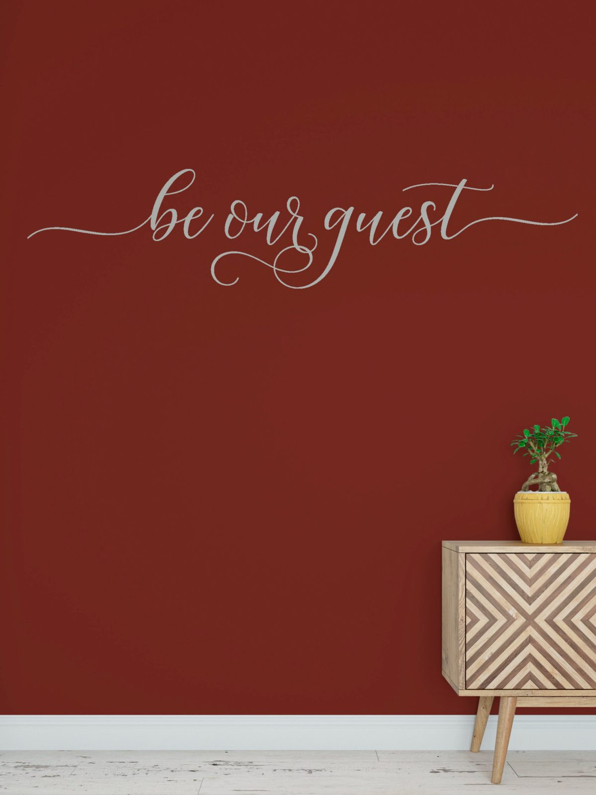 be our guest decal wall words vinyl lettering bedroom