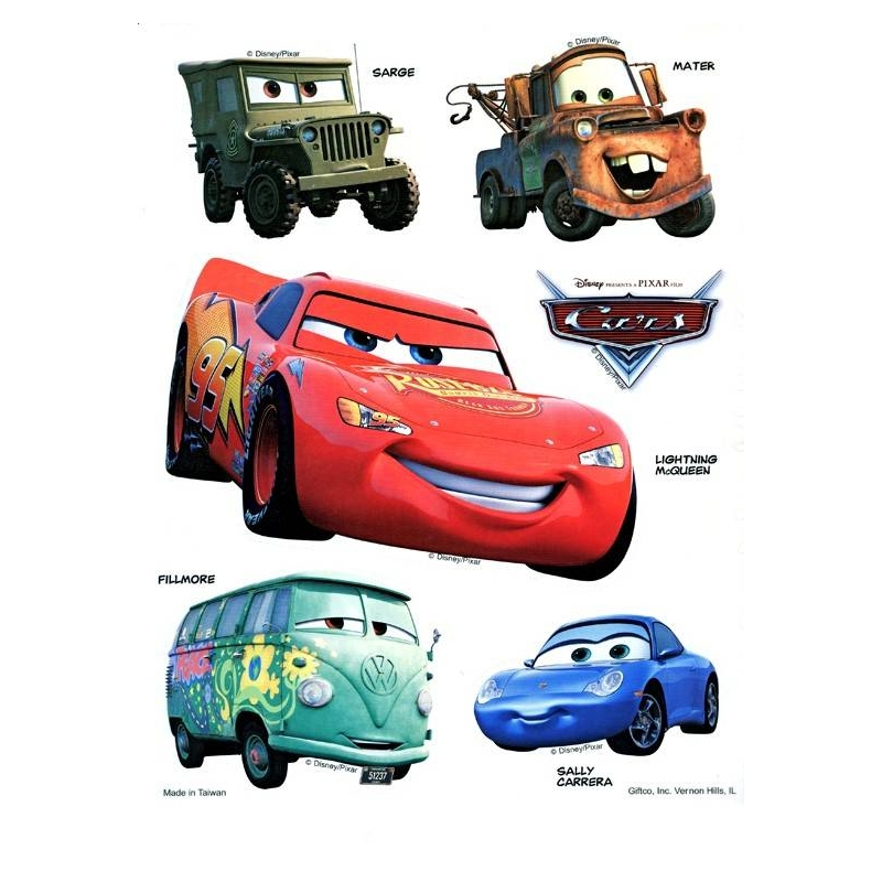 disney pixar cars static stickers set of 2 for other cute