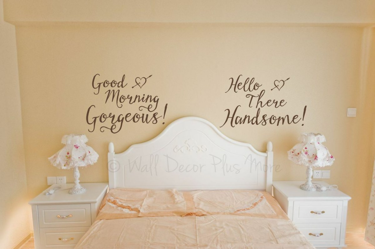 gorgeous and handsome master bedroom vinyl wall decals