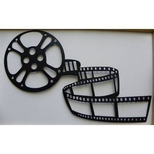 handmade home theater decor movie reel and film metal wall