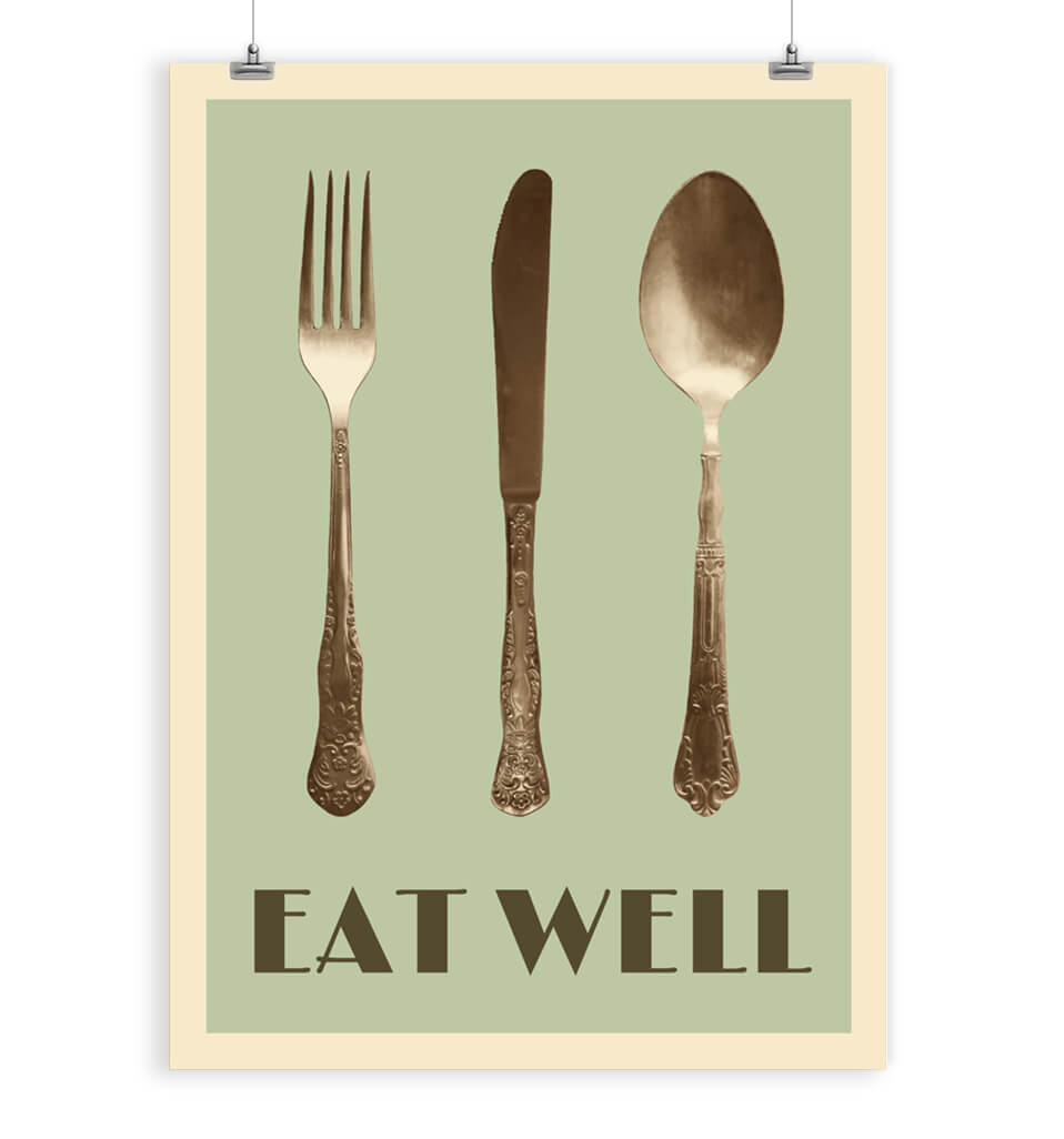 knife fork and spoon wall decor restylegraphic