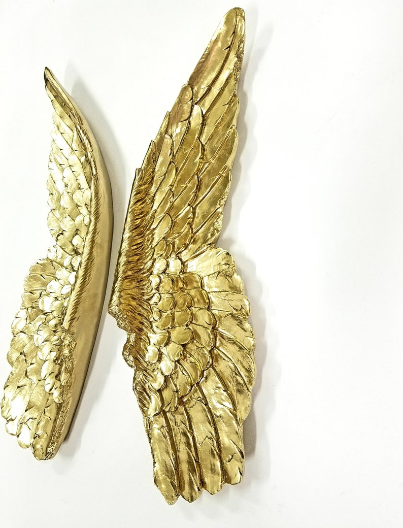 large gold angel wings angel wing wall decor sympathy etsy