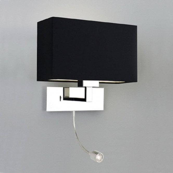 modern hotel style bedside wall light with integral led