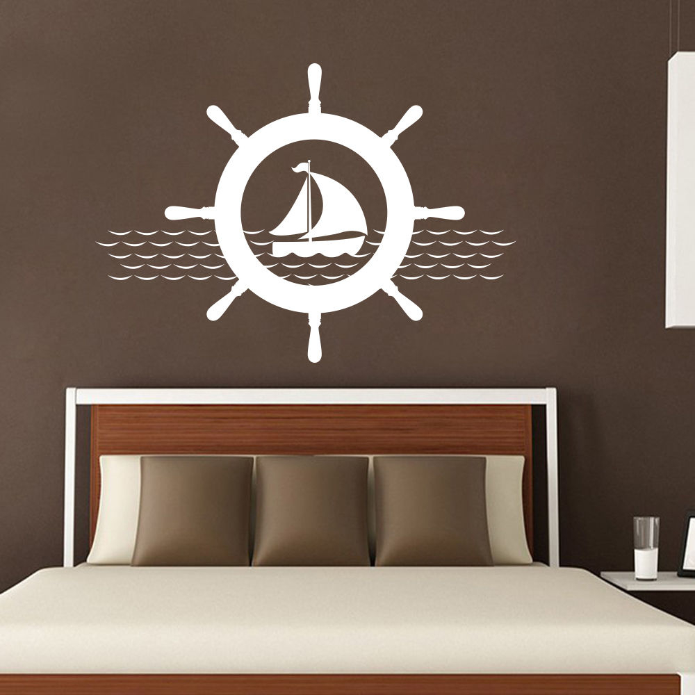 new arrivals nautical wall decals ship wheel decal