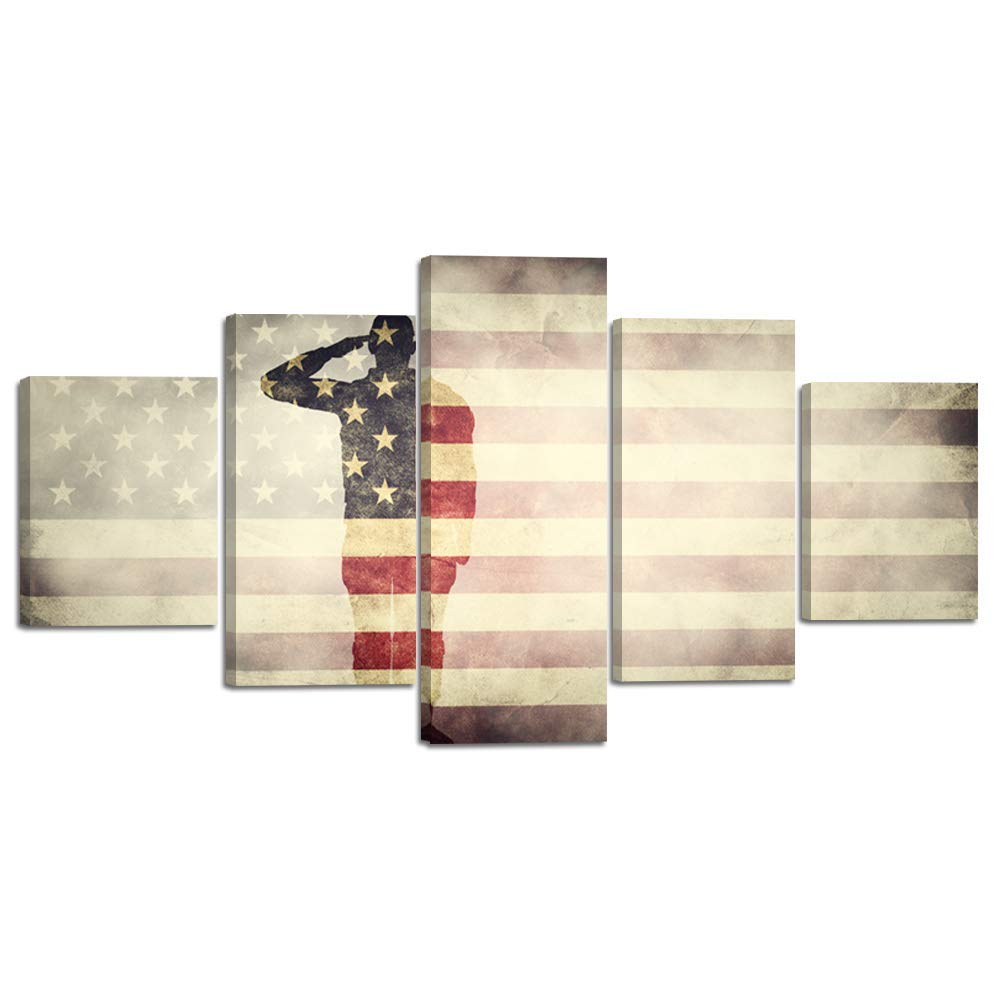 wall art canvas prints thin blue red line soldiers army us