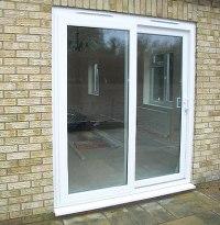 Sliding patio doors help the sun shine in!   Cliffside Windows