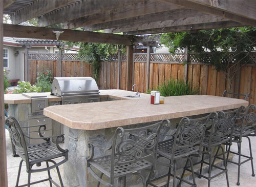 outdoor kitchens backyard kitchen