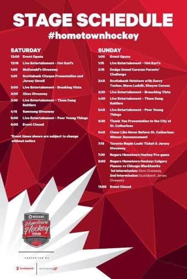 Rogers Hometown Hockey Schedule