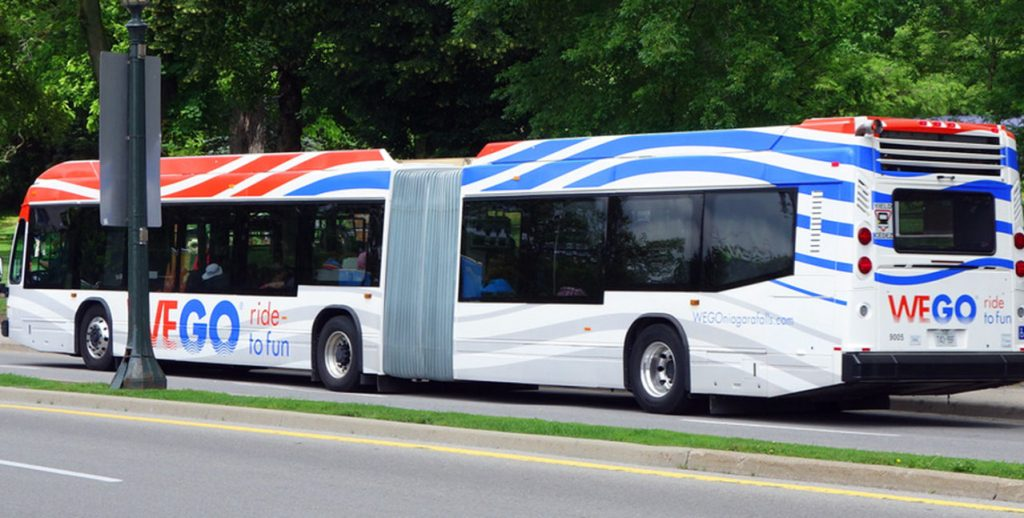 WeGo Bus takes you around Niagara Falls, once you arrive from the Go Train