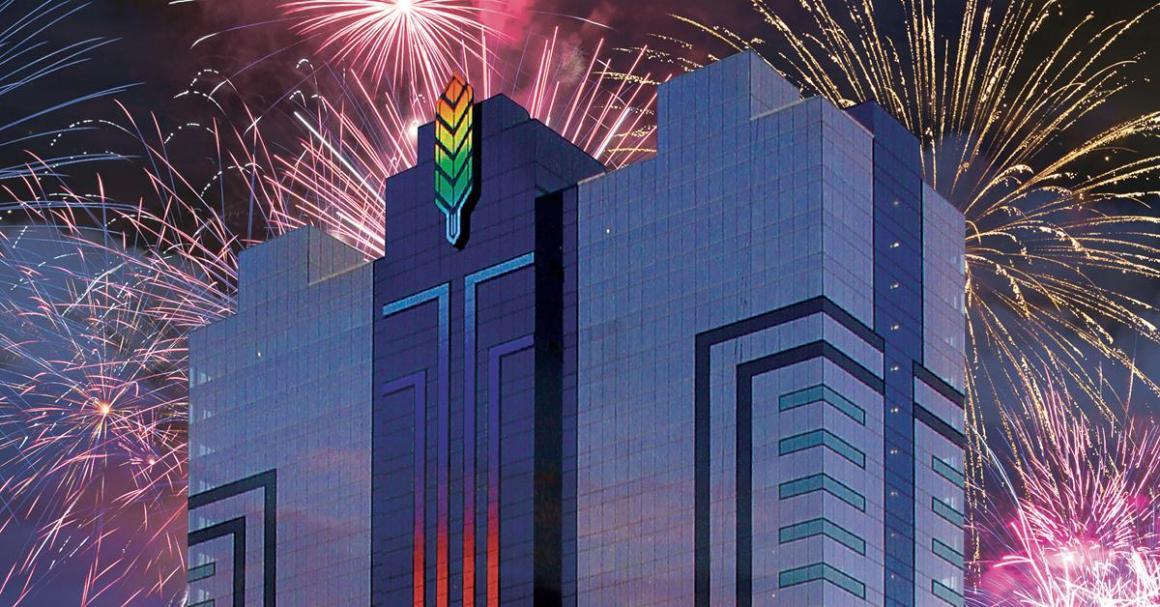 Fireworks in Niagara Falls on Canada day Weekend