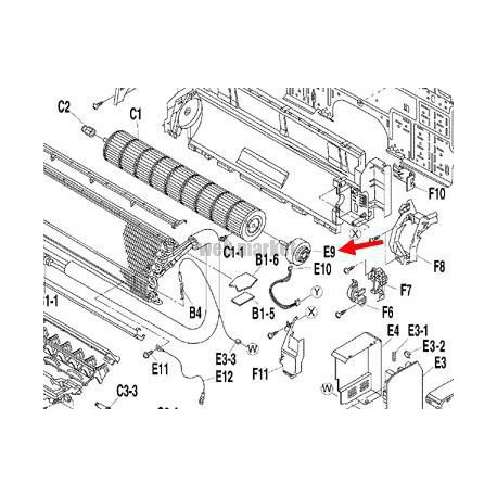 DAIKIN MOTEUR DE VENTILATION KFD-280-40-8B POUR MACHINE