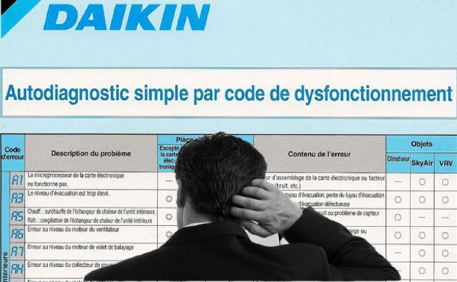 guide codes panne daikin comment les