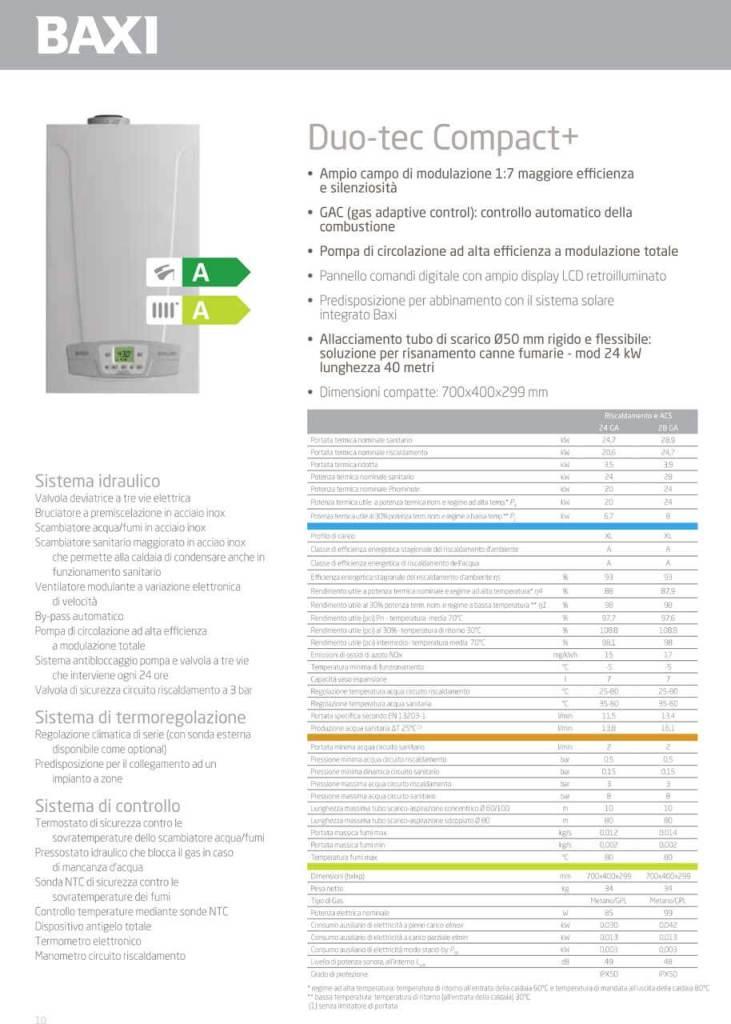 Caldaia a condensazione BAXI LUNA DUO-TEC 28 COMPACT 2