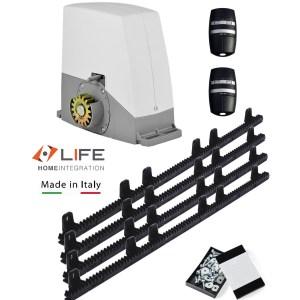 Kit Life ACER 600kg motor puerta corredera con 4 metros cremallera nylon