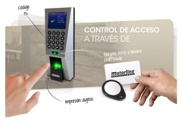 Motorline MLB1 lector biométrico huella digital control accesos