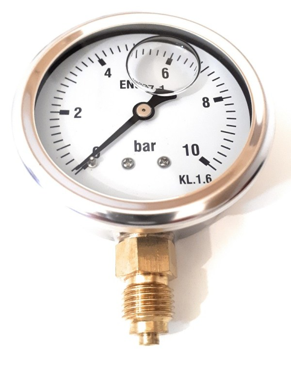 Manómetro glicerina inoxidable 10 Bar