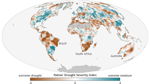 global drought map for 2016