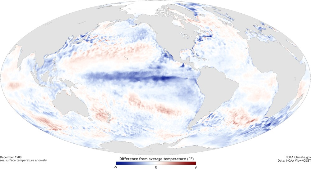 medium resolution of  pacific ocean during a strong la ni a top december 1988 and el ni o bottom december 1997 maps by noaa climate gov based on data provided by noaa