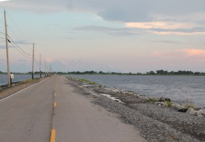 The road to Isle de Jean Charles, La.
