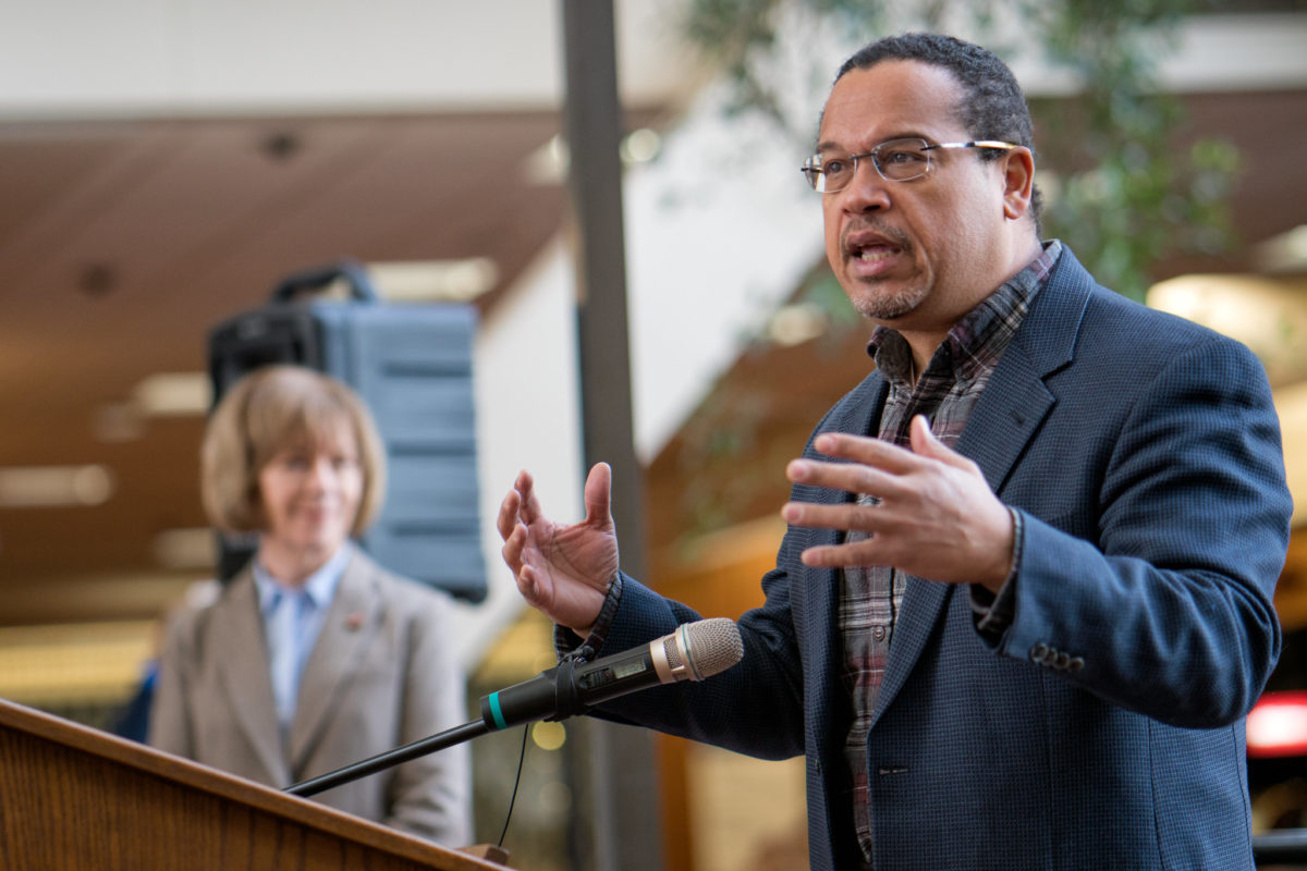 Minnesota Attorney General Keith Ellison announced a climate liability lawsuit against fossil fuel companies