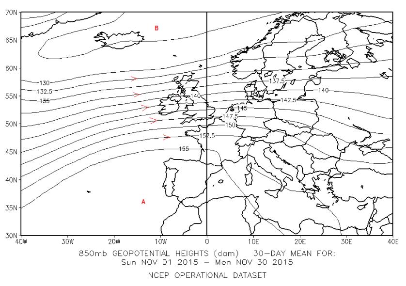 fig 5 - 1_30 Novembre 2015 850 hPa