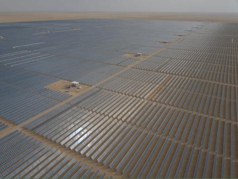Sakaka Solar Plant and Dumat al-Jandal Wind Farm in Saudi Arabia