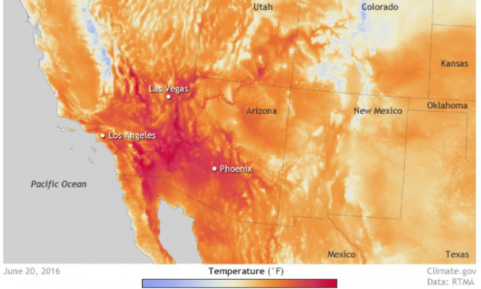 Résultat d'images pour temperatures phoenix june 2017