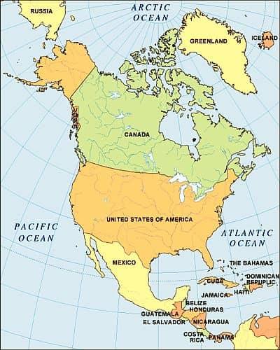 climate north america list