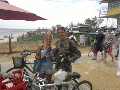 Rusco the dog's owners cycled to SWELL