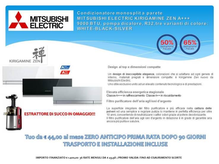 Condizionatore monosplit a parete Mitsubishi Electric KIRIGAMINE ZEN