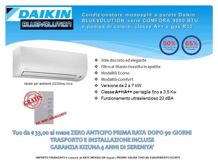 Condizionatore monosplit a parete Daikin BLUEVOLUTION serie Comfora