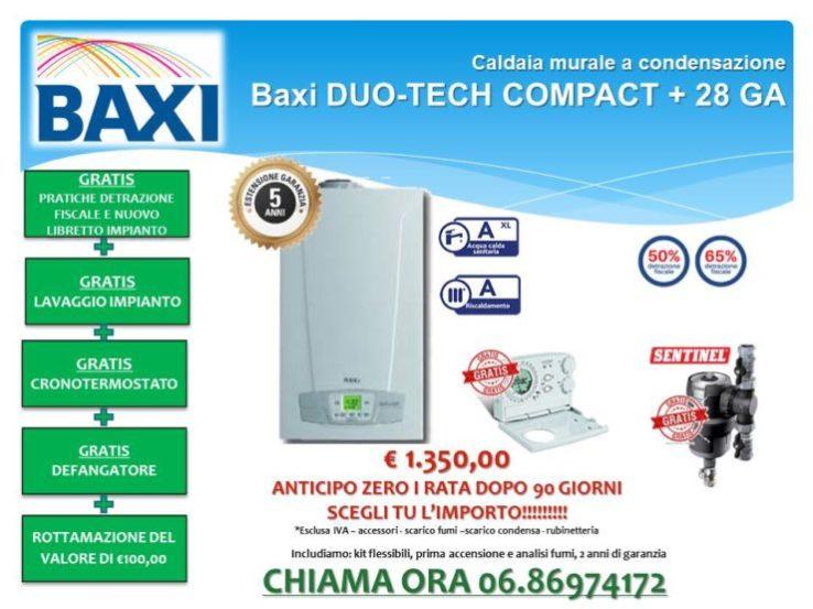 Caldaia murale a condensazione Baxi DUO-TECH COMPACT+ 28
