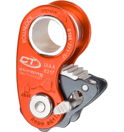 ultra light pulley rope clamp only 80 g designed for work rope climbing maneuvers rescue and self rescue situations  [ 1024 x 1024 Pixel ]