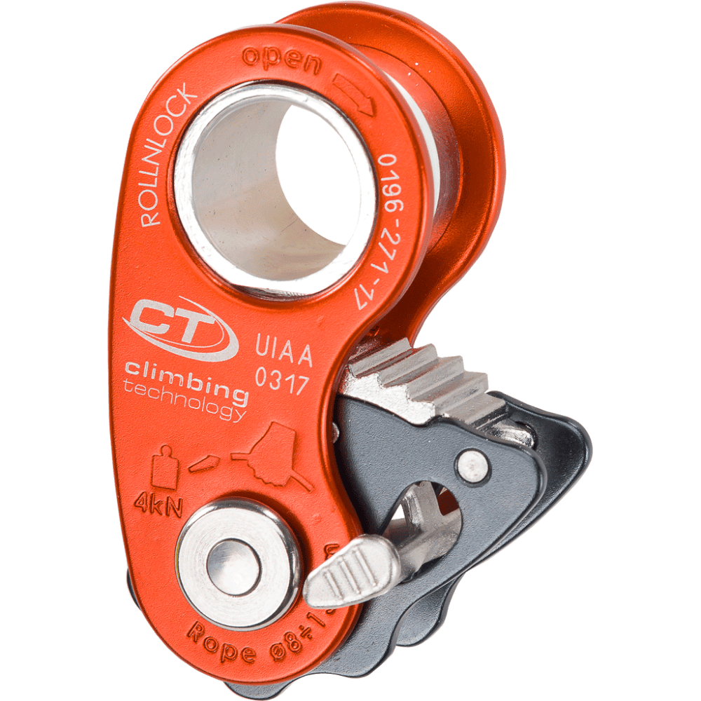 medium resolution of ultra light pulley rope clamp only 80 g designed for work rope climbing maneuvers rescue and self rescue situations