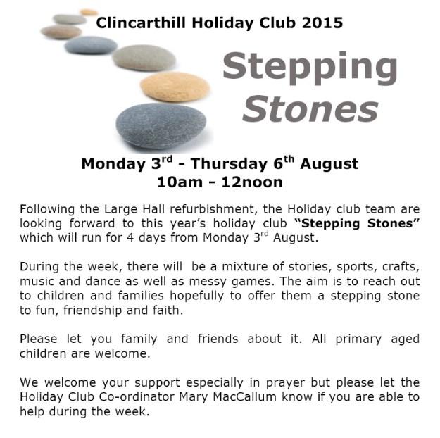 Holiday Club Notice 2015 - 2