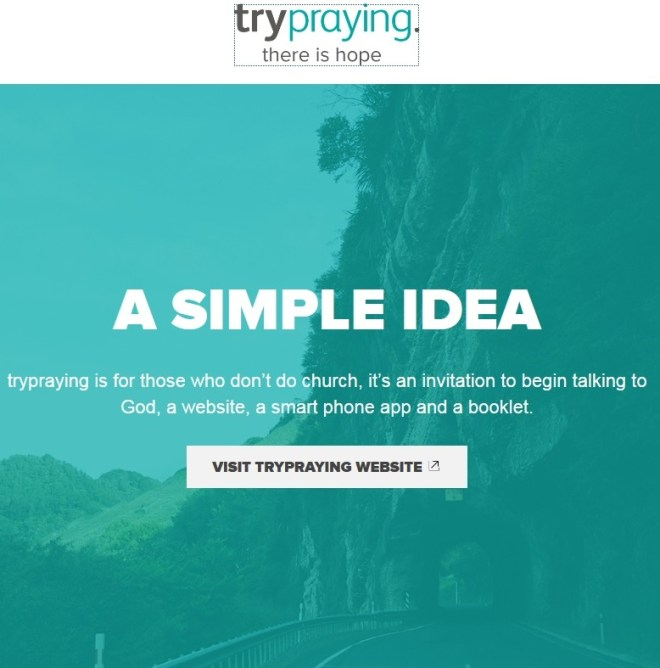 try praying website