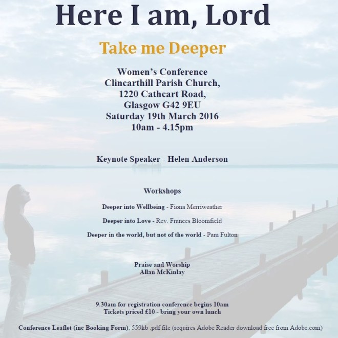 Here I am Lord conference Mar 2016