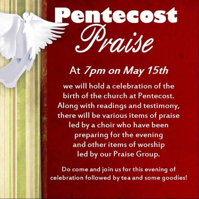 Pentecost Praise May 2016