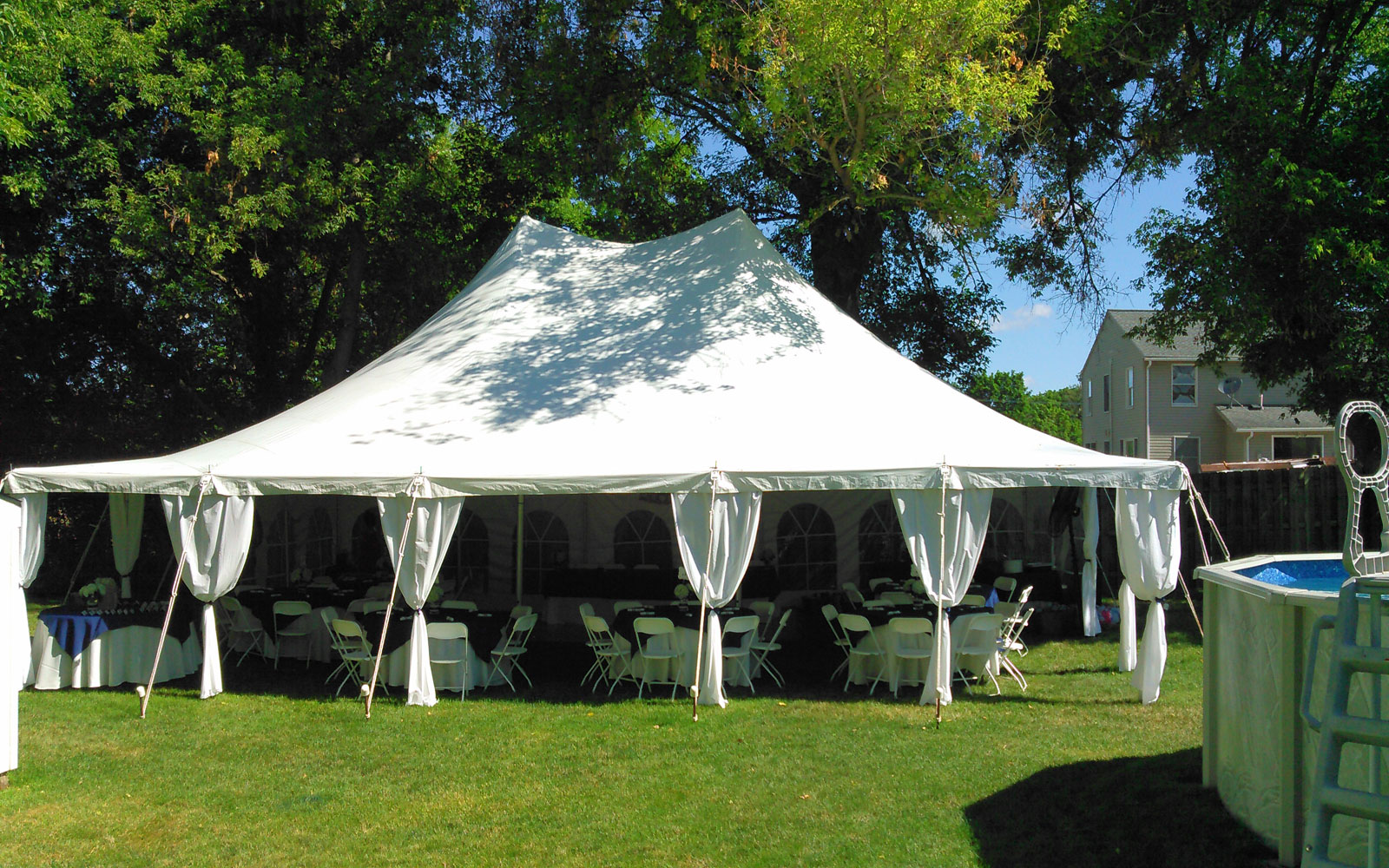 tent and chair rental kids lounge cline 39s inc