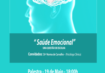 """Palestra dia 19 de Maio – """" Saúde Emocional """""""