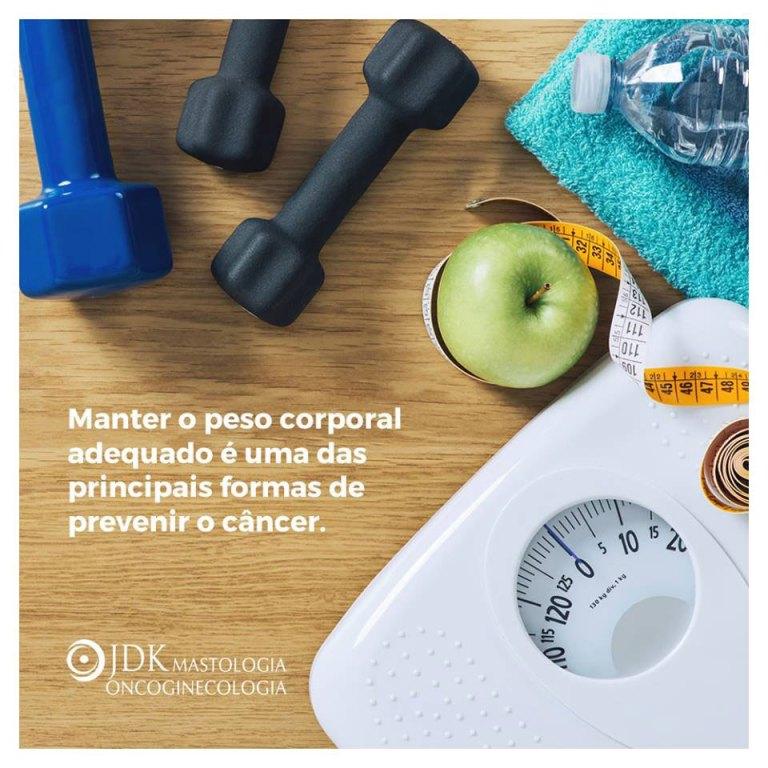 Manter o peso corporal adequado é uma das principais formas de prevenir o câncer
